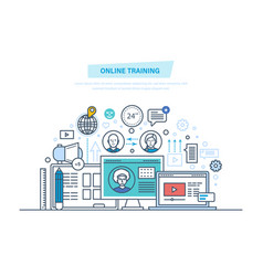 online education training courses e-learning vector image