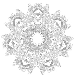 Ornamental castle from a fairy tale vector