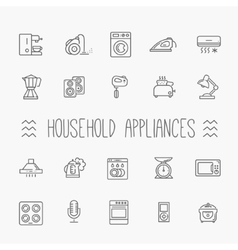 Outline icon collection - household appliances vector