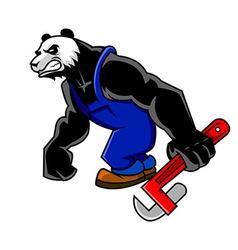 Panda Mechanic vector image