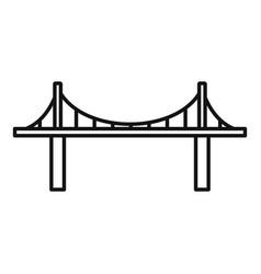 park bridge icon outline style vector image