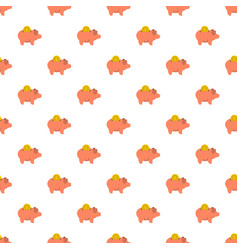 pig money pattern seamless vector image