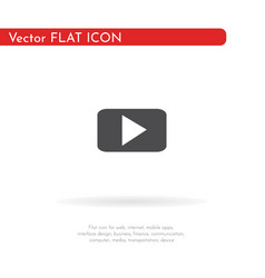 play icon for web business finance and vector image