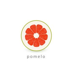 pomelo simple icon vegan logo template vector image