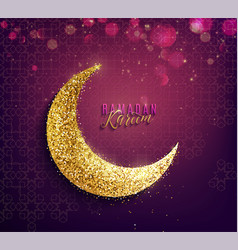 Ramadan kareem background islamic crescent vector