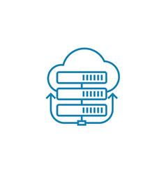 remote server linear icon concept remote server vector image