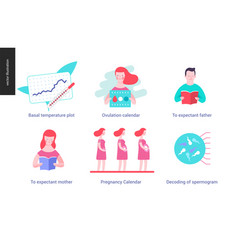 Reproduction - set of icons vector