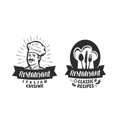 Restaurant logo eatery diner bistro label vector