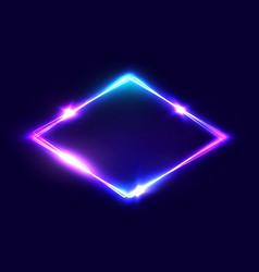 Rhombus background on dark blue backdrop vector
