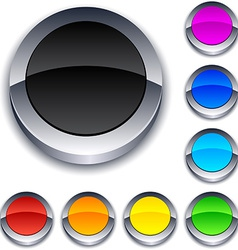Round 3d buttons vector image