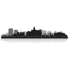 Saskatoon Canada city skyline silhouette vector