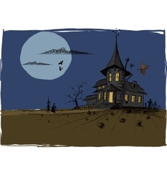 Scarry Halloween House vector