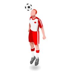 Soccer Header 2016 Sports 3D Isometric vector image