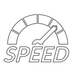 speedometer design logo outline style vector image