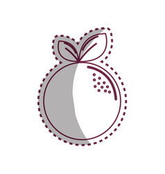 sticker silhouette orange fruit icon stock vector image
