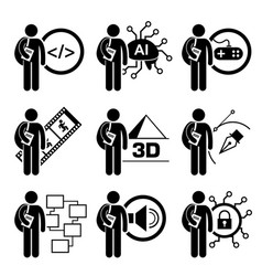student degree in information technology vector image