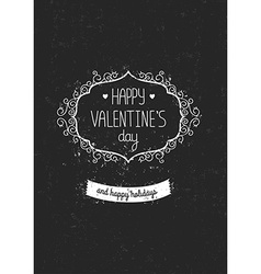 Vintage love greeting card vector image
