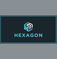Xm hexagon logo design inspiration vector