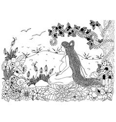 Zen Tangle a pregnant woman vector
