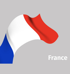 background with france wavy flag vector image