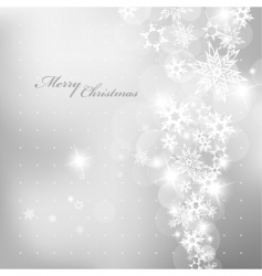 Christmas silver vector image vector image