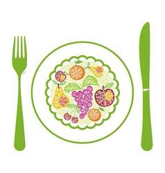 Fruits menu vector image