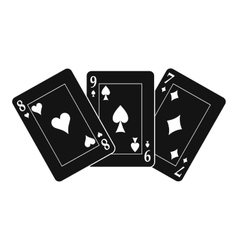Playing cards black simple icon vector image