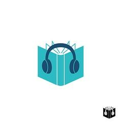 Audio book logo vector image vector image