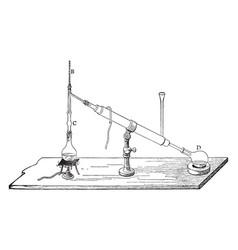 chemistry apparatus vintage vector image vector image