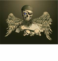 piracy skul vector image