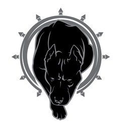 pit bull logo vector image