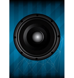 Black speaker with lines vector image vector image