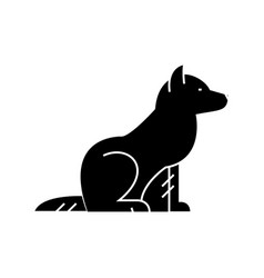 dog icon sign on isolate vector image vector image