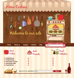 Home Cooking web template vector image vector image