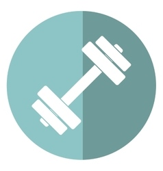 barbell fitness gym icon design shadow vector image vector image