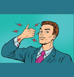 businessman like hand gesture vector image vector image