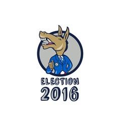 Election 2016 democrat donkey mascot circle vector