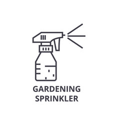 gardening sprinkler line icon outline sign vector image