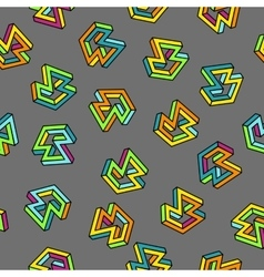 Pattern 80s Seamless Background Retro vector image vector image