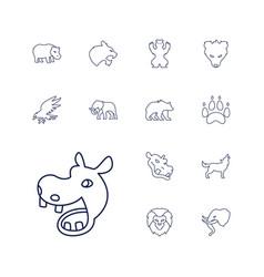 13 wildlife icons vector