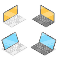 3d isometric flat concept laptop vector image