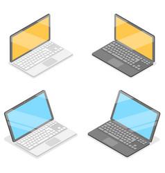 3d isometric flat concept laptop vector image