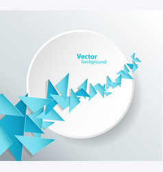 abstract 3d circle background with low poly vector image