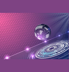 abstract background with futuristic glass sphere vector image