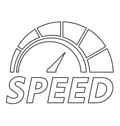 abstract speedometer logo outline style vector image