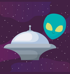 alien spaceship design vector image