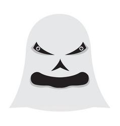 angry halloween cartoon ghost avatar vector image
