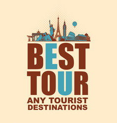 banner with planes and various attractions vector image