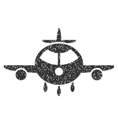 Cargo Plane Icon Rubber Stamp vector