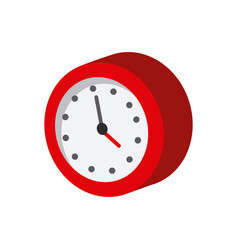 Clock isometric icon vector